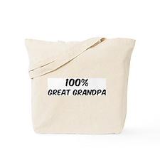 100 Percent Great Grandpa Tote Bag