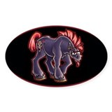 Oval Sticker B.A. Pony