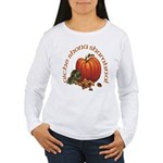 Gaelic Pumpkin Scene Women's Long Sleeve T-Shirt