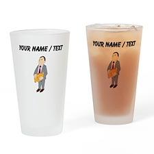Man And Piggy Bank (Custom) Drinking Glass