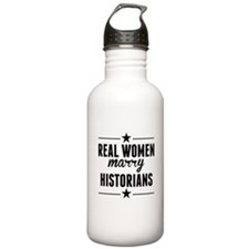 Real Women Marry Historians Water Bottle