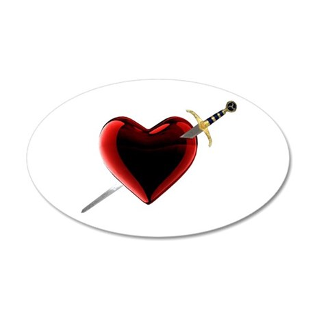 Stabbed In The Heart Wall Decal