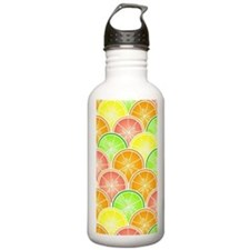 Citrus Fruit Pattern Water Bottle