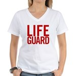 Life Guard (red) Women's V-Neck T-Shirt