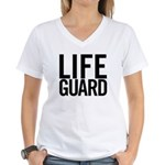 Life Guard (black) Women's V-Neck T-Shirt