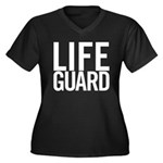 Life Guard (white) Women's Plus Size V-Neck Dark T