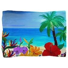 Tropical Beach Pillow Sham