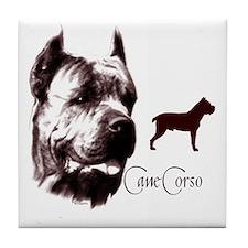 cane corso dog Tile Coaster