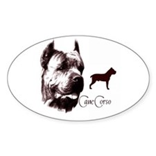 cane corso dog Oval Decal