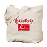 Turkish Flags Tote Bag