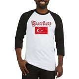 Turkish Flags Baseball Jersey