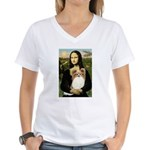 Mona's Papillon Women's V-Neck T-Shirt