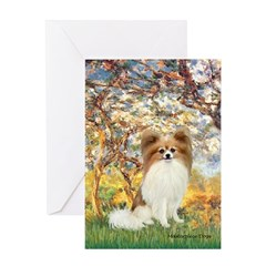 Spring / Papillon Greeting Card