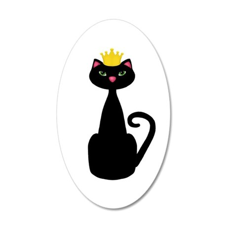 Black Cat With a Crown Wall Decal