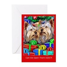 Yorkshire Terrier Open Gifts Greeting Cards (Pk of