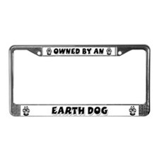 Earth Dog License Plate Frame