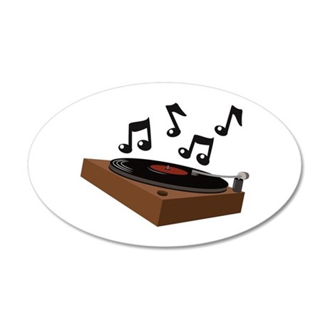 Record Player Wall Decal