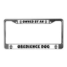 Obedience Dog License Plate Frame