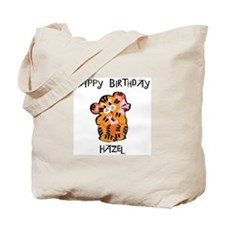 Happy Birthday Hazel (tiger) Tote Bag