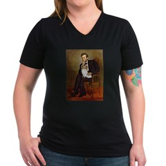 Lincoln's Papillon Women's V-Neck Dark T-Shirt