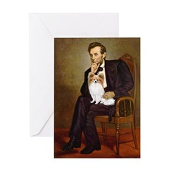 Lincoln's Papillon Greeting Card
