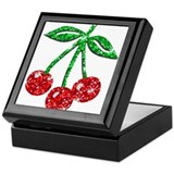 Sparkling Cherries Keepsake Box