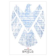 SHIELD Logo Alien Writing Wall Art
