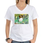 Irises / Papillon Women's V-Neck T-Shirt