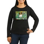 Irises / Papillon Women's Long Sleeve Dark T-Shirt