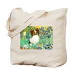Irises / Papillon Tote Bag