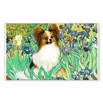 Irises / Papillon Sticker (Rectangle)