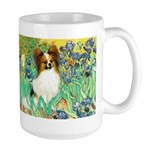 Irises / Papillon Large Mug