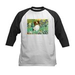 Irises / Papillon Kids Baseball Jersey