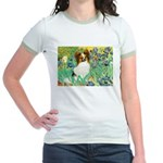 Irises / Papillon Jr. Ringer T-Shirt
