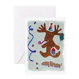 Birthday moose Greeting Card