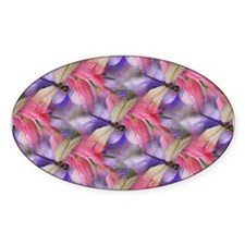 Dragonflies Oval Decal