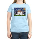 Starry Night & Papillon Women's Light T-Shirt