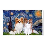 Starry Night & Papillon Sticker (Rectangle)