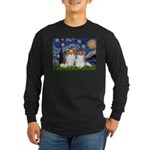 Starry Night & Papillon Long Sleeve Dark T-Shirt
