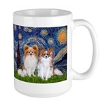 Starry Night & Papillon Large Mug