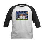 Starry Night & Papillon Kids Baseball Jersey