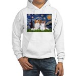 Starry Night & Papillon Hooded Sweatshirt