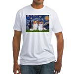 Starry Night & Papillon Fitted T-Shirt