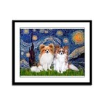 Starry Night & Papillon Framed Panel Print