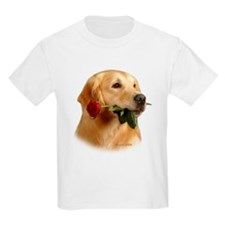 Golden Retriever (Male) and Red Kids T-Shirt