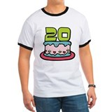 20 Year Old Birthday Cake T