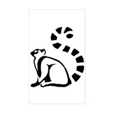 Clean Lemur Rectangle Decal