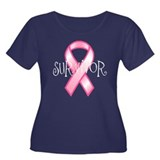 Survivor Women's Plus Size Scoop Neck Dark T-Shirt