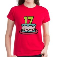 17 Year Old Birthday Cake Tee