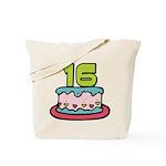 16 Year Old Birthday Cake Tote Bag
